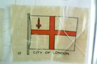 B.D.V. Cigarettes Silk FLAG- CITY OF LONDON FLAG (apx.7x5 cm) (Poor condition)