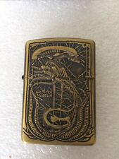 More details for alien zippo hr giger museum double sided unused