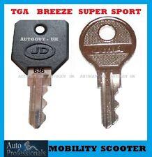 2 X 636 Mobility key TGA  Breeze  Buddy  Supersport  Superlight scooter keys cut