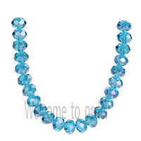Wholesale Charms 5040# Rondelle Faceted Crystal Glass Loose Beads 2x3mm 53Colors