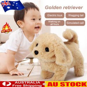Cute Simulation Pet Dog Realistic Smart Toddler Soft Stuffed Plush Toy Kids AU