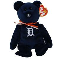 TY Beanie Baby - MLB Baseball Bear - DETROIT TIGERS (8.5 inch) MWMTs Stuffed Toy