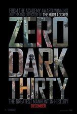 ZERO DARK THIRTY MOVIE POSTER 1 Sided ORIGINAL 27x40 JESSICA CHASTAIN