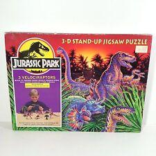 Vintage Jurassic Park 3-D Puzzle Dinosaur Velociraptor Raptor figures 1992 90's