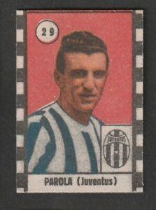 FIGURINA CALCIATORI CASTOLDI 1947-48 JUVENTUS PAROLA