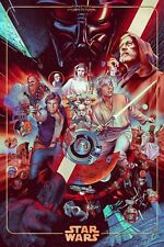 Star Wars The Ways Of The Force Foil Variant Mondo Art Print Martin Ansin SDCC