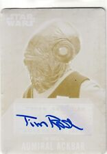 2016 Star Wars Evolution Printing Plate Auto Tim Rose as Admiral Ackbar 1/1