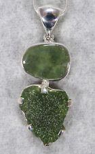 MOLDAVITE PENDANT $158 Tektite 925 Sterling Jewelry STARBORN CREATIONS MP158-1