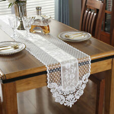 Embroidery Floral Lace Wedding Banquet Table Runner Piano Party Home Table Decor