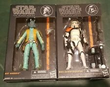 Hasbro Star Wars The Black Series Greedo and Sandtrooper Action Figures LOT
