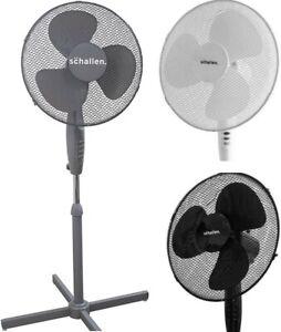 """Schallen 16"""" Electric Oscillating Floor Standing Tall Pedestal Air Cooling Fan"""