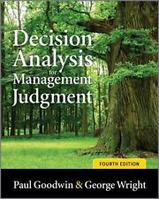 Decision Analysis for Management Judgment Paul Goodwin  George Wright 4th ed pbk