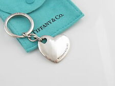 Tiffany & Co.Silber Doppelherz Schlüsselanhänger Kette Tasche Inklusive