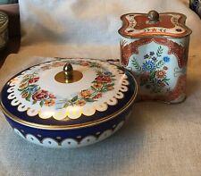 Beautiful Decorative German Tins, Boho Decor, Collector Tins, Lot Of Tins,