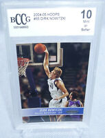2004-05 NBA Hoops Dirk Nowitzki Card #55 BCCG Graded Mint or Better 10 MAVERICKS