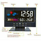 Led Digital Projection Alarm Clock Loud Snooze Calendar Weather Display