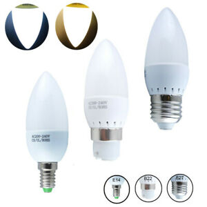 LED Golf Globe Candle Round Light Bulbs 3W E27 B22 B15 Bayonet Warm Cool White