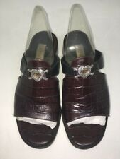 Brighton  Sandals Sandals Heels Slip on Slides Hearts Leather SZ 7 Made In Italy