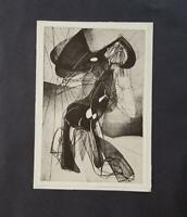 "Stanley William Hayter ""Amazon""  Mounted b/w offset Lithograph  1973"