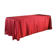 """90""""x132"""" Rectangular Satin Tablecloth Cover Wedding Party Home Dinner Decoration"""