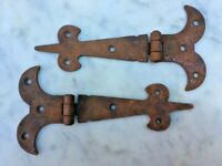 "~ONE PAIR~OF~5.1/2"" RUSTIC GOTHIC T/HINGES~"