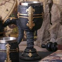 CRUSADER GOBLET Medieval Knights Templar Gothic Chalice Nemesis Now - FREE P+P