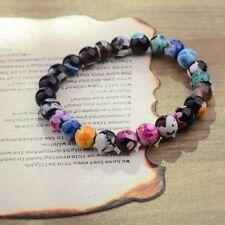 8Mm Natural Colorful Lava Beads Men And WomenFashion Charm Friendship Bracelets