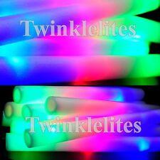 100 LED Foam Sticks Flashing Glow Light Up Wands Wholesale Wedding Party Lot DJ