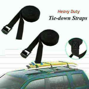 Pair Car Tail Frame Fixed Multi-functional Roof Luggage Rack Surf Tie Down Strap