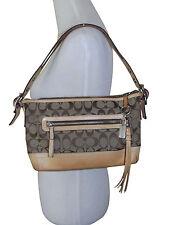 Authentic Coach Khaki Signature East West Duffle Shoulder Bag  Style 9363