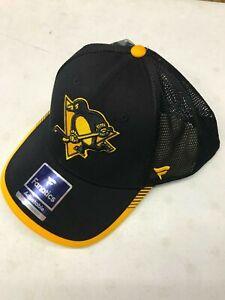 Fanatics Pittsburg Penguins NHL Adjustable Adult One Size Cap Black Hat
