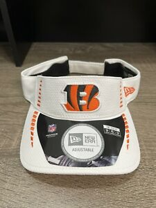Cincinnati Bengals NEW ERA Unisex Adjustable Visor NFL Fan Gear White Hat OSFM