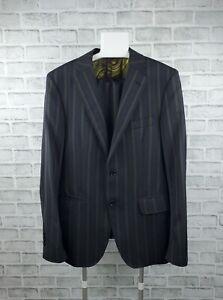 Men's ETRO Two Piece Wool Suit Jacket Pants Trousers Gray/Green Size 50