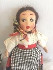 "Antique felt Lenci ? Perotti ? boudoir doll original clothing 7"" scarf, skirt"