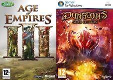 age of empires iii 3 & dungeons gold edition neu & versiegelt
