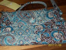 LEMON HILL QUILTED PURSE TEAL BLUE PAISLEY  CROSS BODY STYLE NWT