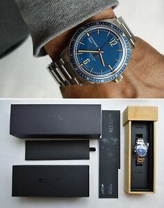 Christopher Ward C65 Trident Divers Manual Mechanical Blue Dial Steel Bracelet