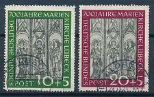 Bundesrepublik Mi-Nr: 139-140 gestempelt Lübeck, 700 Jahre Marienkirche Lübeck