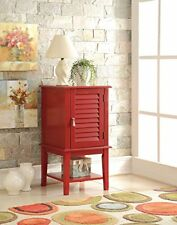 Acme Furniture 97145 Hilda Side Table, Red NEW
