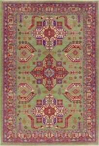Light Green Super Kazak Geometric Oriental Handmade Area Rug Wool Carpet 7x10