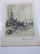 Cunard Line R.M.S. Lancastria Luncheon Menu Saturday July 6, 1929