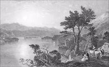 ÉCOSSE (SCOTLAND) - LE LOCH AWE (ARGYLESHIRE) - Gravure ancienne du 19e siècle