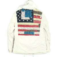 Denim and Supply Ralph Lauren Womens Patchwork Flag Chore Jacket Size Small
