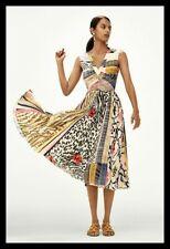 NWT Anthropologie Geisha Designs Jacinta Dress Multicolor Pleated 6 $220