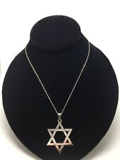 """Beautiful Star Of David Stainless Steel 16"""" Protection Necklace SILVER"""