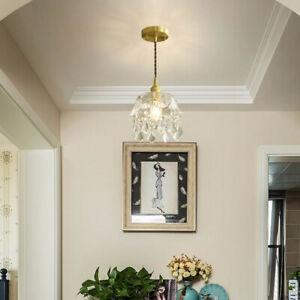 Vintage Glass Chandelier LED Pendant Lamp Crystal Ceiling Indoor Light 110-240V