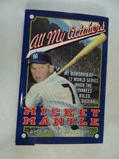 1994 Vintage All My Octobers Mickey Mantle Autographed Signed Baseball Book