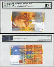Switzerland 10 Franken, 2013, P-67e, UNC, Le Corbusier, PMG 67 EPQ