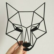 Geometric Fox Head Wall Art Hanging Decoration Origami Style Pick Your Colour