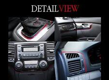 Interior Edge Gap Point Molding Garnish Red Line for Sedan SUV RV